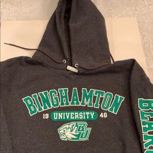 Champion Binghamton university hooded sweatshirt